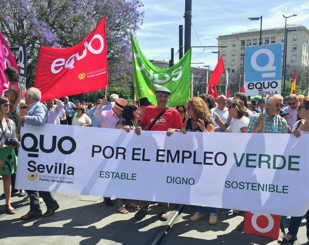 Foto del 1 de mayo. EQUO va.