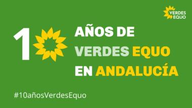 Imagen 10 años Verdes Equo en Andalucía