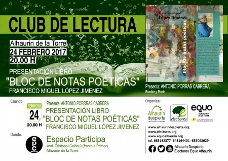 Presentación de poemario de Francisco Miguel López en Espacio Participa @ Espacio Participa | Alhaurín de la Torre | Andalucía | España