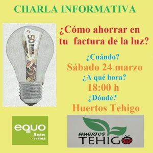 ¿Cómo ahorrar en tu factura de la luz? @ Huertos Tehigo