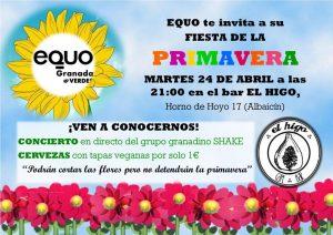 Fiesta de la Primavera. EQUO Granada @ Bar El Higo | Granada | Andalucía | España