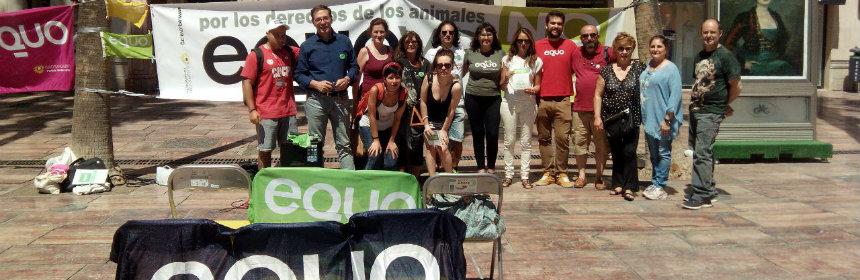 Acto animalista en Málaga portada