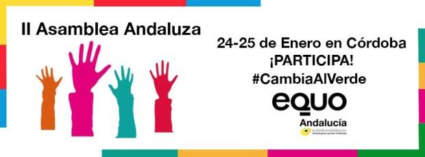 Banner II Asamblea Andaluza de EQUO