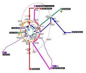 Plano MetroBus Sevilla