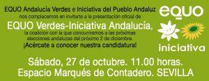 Presentación de candidatura de EQUO Verdes - Iniciativa Andalucía @ Paseo Marqués de Contadero, Sevilla | Sevilla | Andalucía | España