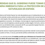 Proponemos al Ministerio de Transición Ecológica 14 medidas para la conservación de la Naturaleza