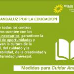 EQUO Verdes – INICIATIVA Andalucía defiende el blindaje del 7% del PIB en Educación