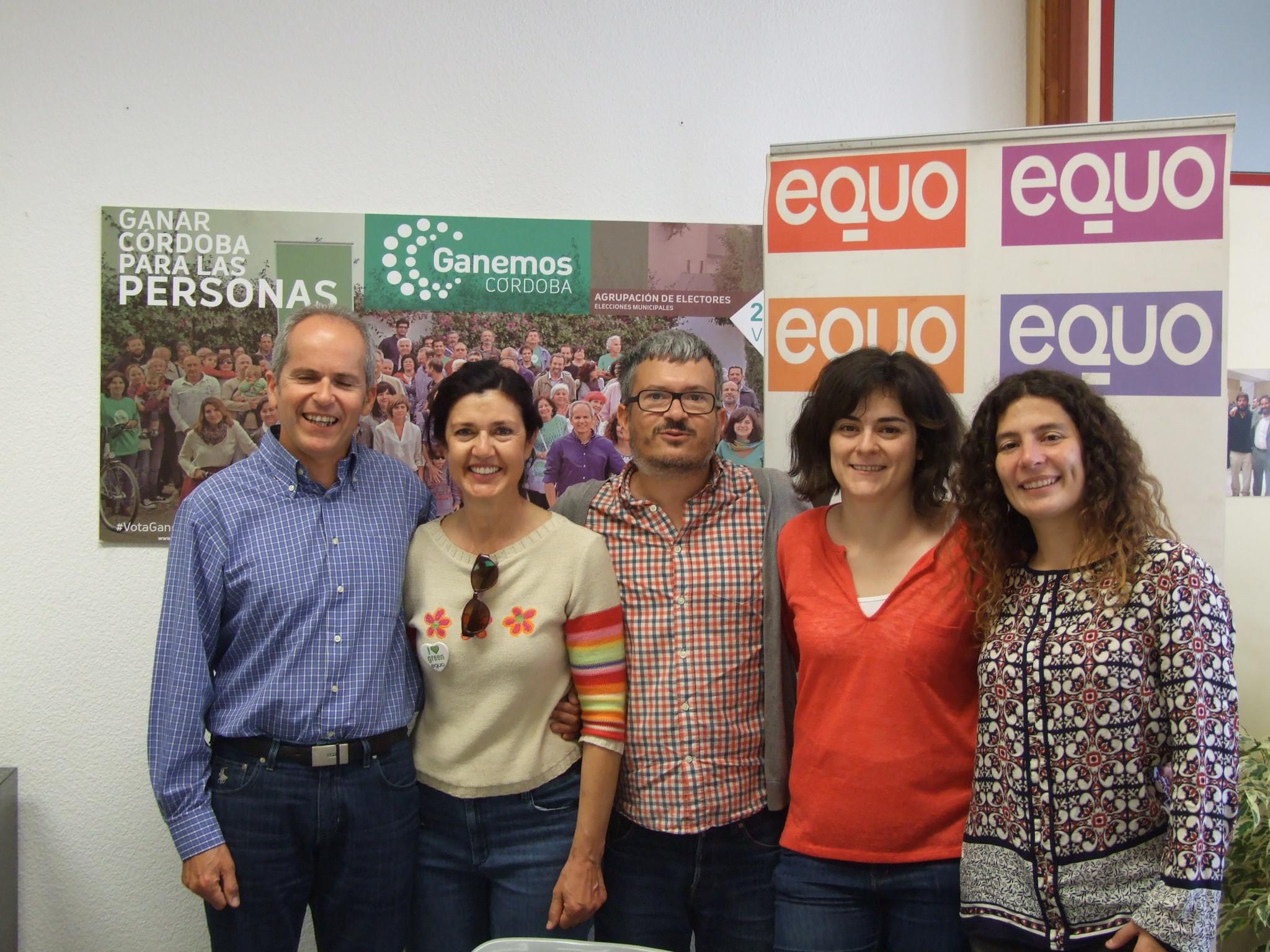 Carmen Molina reunida con Ganemos Córdoba