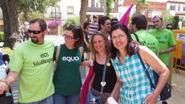 Carmen Molina con la 'EQUOgente' de Jaén.