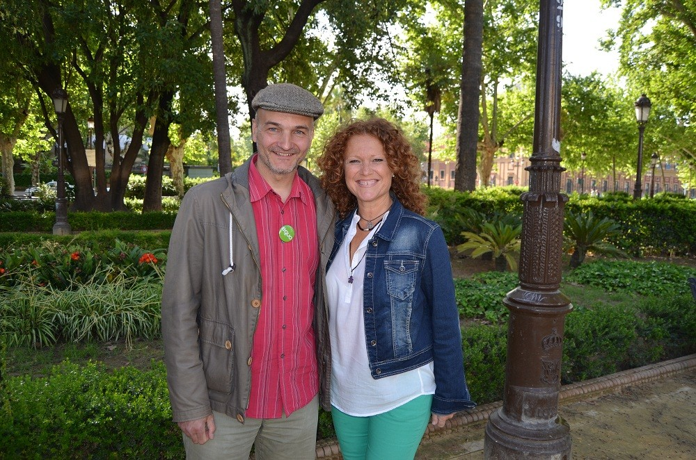Esteban de Manuel y Mar Oliver, candidatos de EQUO en Sevilla