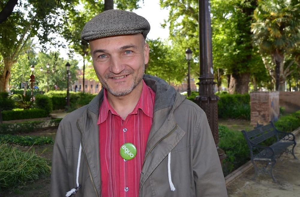 Esteban de Manuel, candidato a la alcaldía de Sevilla por EQUO