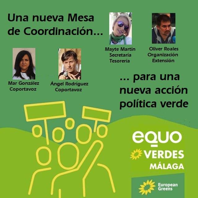Nueva Mesa de Coordinación equo Verdes Málaga