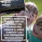 Presentamos un plan de 'Municipios por el clima' para crear ciudades y pueblos más sostenibles