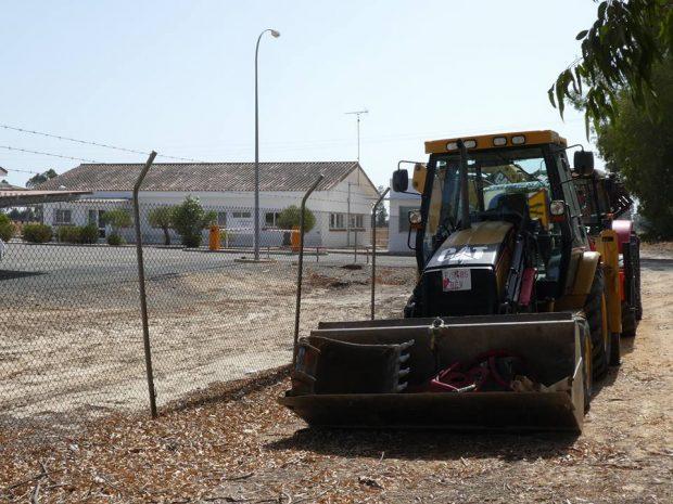 Maquinaria en la zona en la que se iniciarían los trabajos