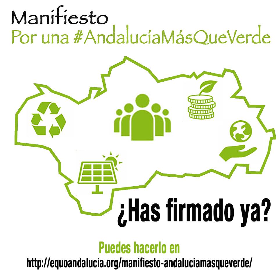 Lanzamos nuestro manifiesto por una 'Andalucía más que verde'