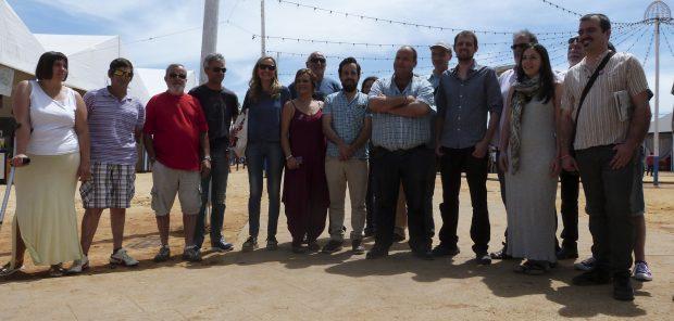 Marcellesi con algunos de los participantes en el coloquio.