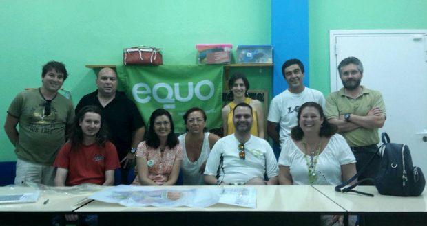 Carmen Molina en la reunión con los colectivos.