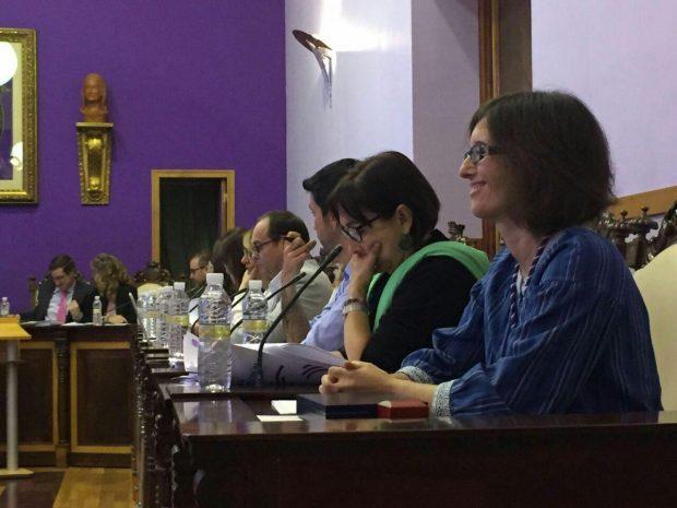 Sara Martínez, tras su toma de posesión.