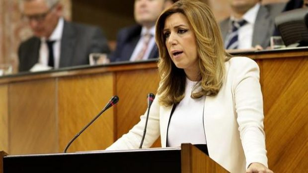 Susana Díaz en el Parlamento andaluz./ EP