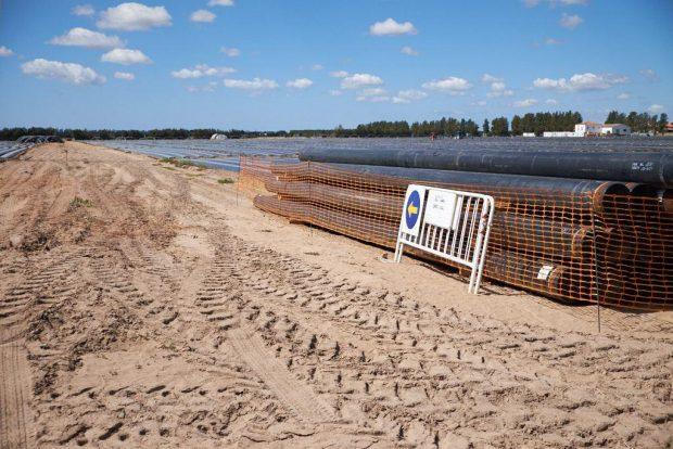 Los trabajos de la gasística en el entorno del Parque se iniciaron hace varias semanas.
