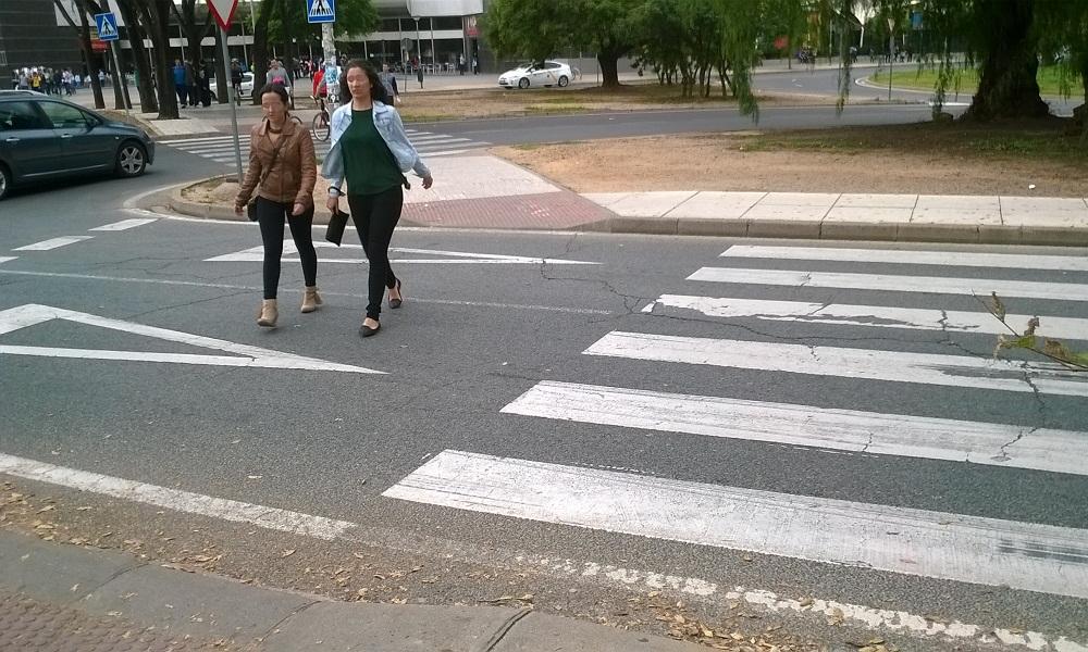 Foto de mal paso para peatones