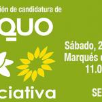 EQUO Verdes-Iniciativa Andalucía presentará su candidatura públicamente este sábado en Sevilla