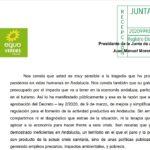 """Enviada la #CartaVerde"""" a Moreno Bonilla para la salida saludable y justa del Covid19"""