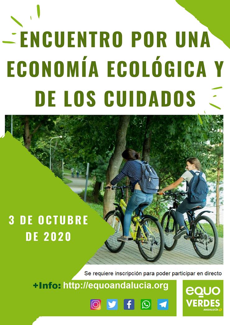 Cartel encuentro por una economía ecológica y de los cuidados