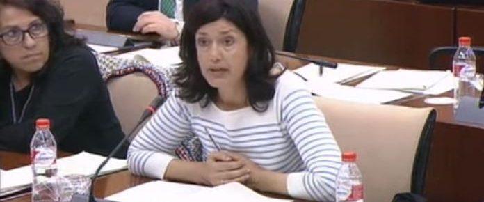 Carmen Molina, en una de sus intervenciones en la Comisión.