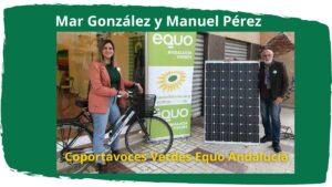 Imagen con foto de Mar Gonzálesz y Manuel Pérez, coportavoces Verdes Equo Andalucía