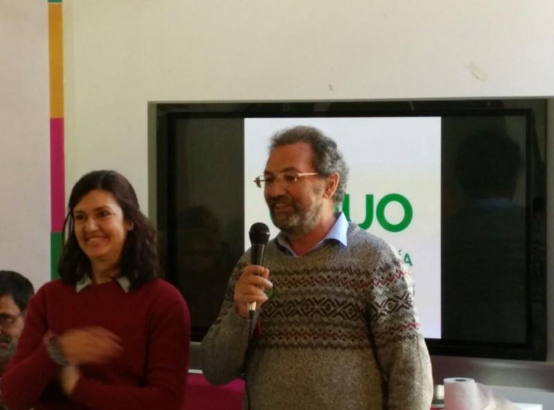 Carmen Molina y Pepe Larios Coportavoces de EQUO Andalucía.