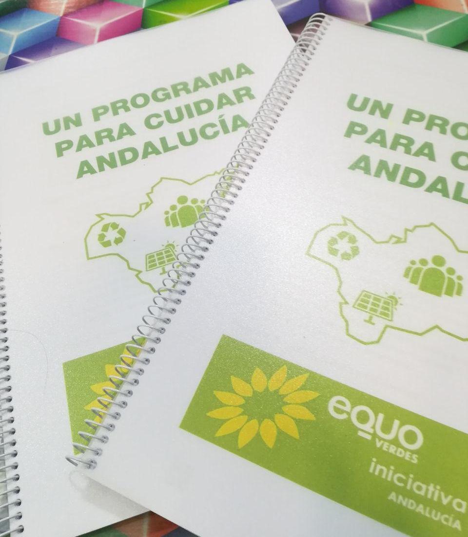 programa a papel de EQUO VERDES - INICIATIVA ANDALUCÍA 2018