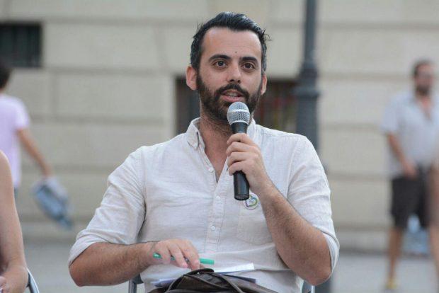 Manuel Merino, durante su intervención en Granada.