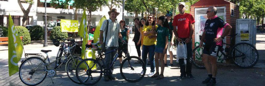 Bicicletada en Granada.