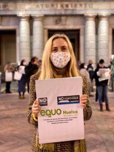 Foto de Isabel Brito de Verdes Equo Andalucía en la movilización contra los fosfoyesos en Huelva