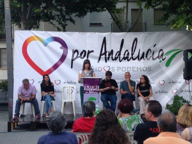 Pepa Jiménez durante su intervención en Jaén.