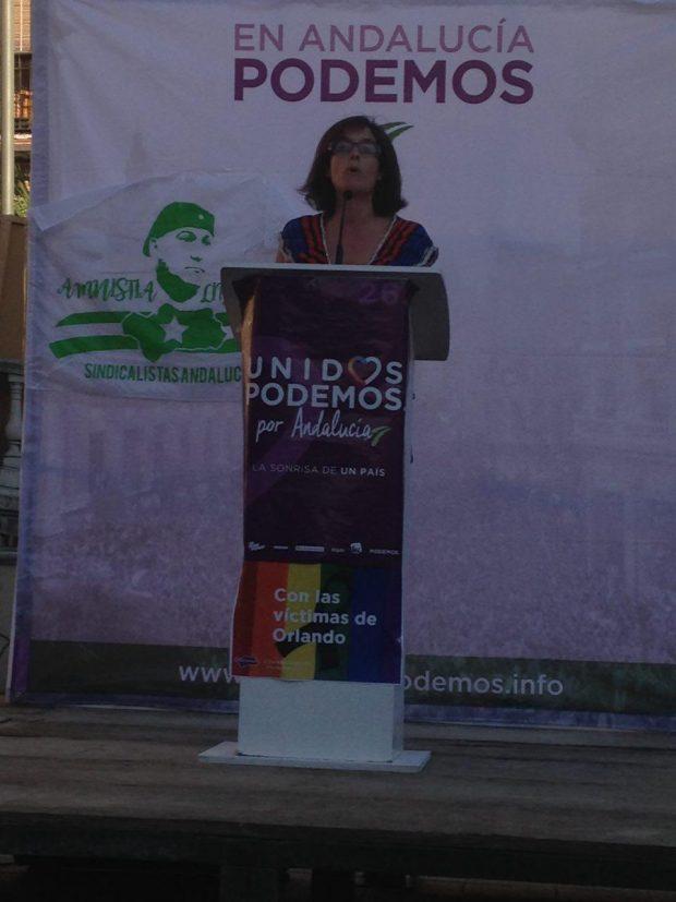 Nuestra compañera Sara Martínez en Cazorla.