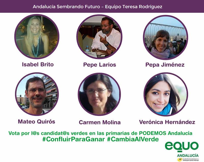 Candidatos de EQUO a las primarias de Podemos