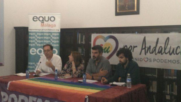 Francisco Soler, en su intervención en Antequera.