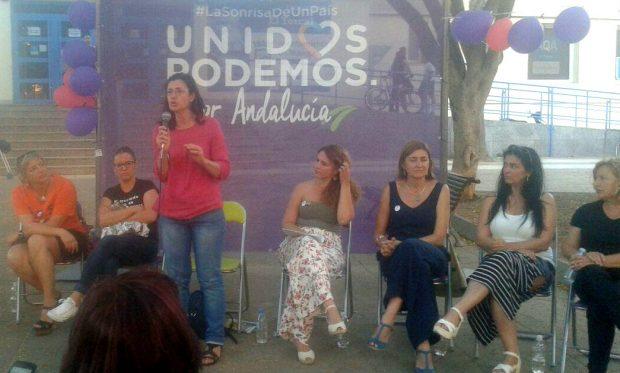 Carmen Molina, en un acto de campaña en Málaga.