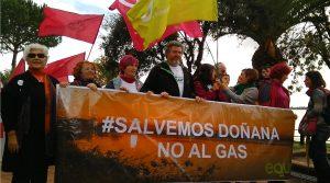 Pancarta Salvemos Doñana