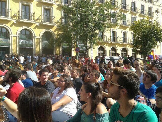 Manifestación de estudiantes por la Educación Pública