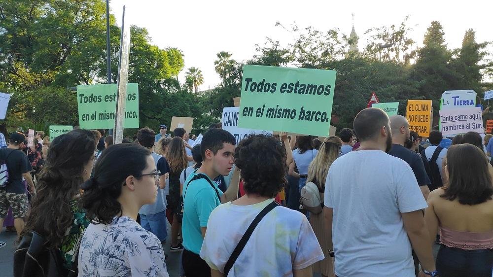 Foto manifestación por el cambio climático en Andalucía