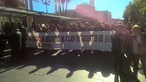 Manifestación por la sanidad pública en Sevilla