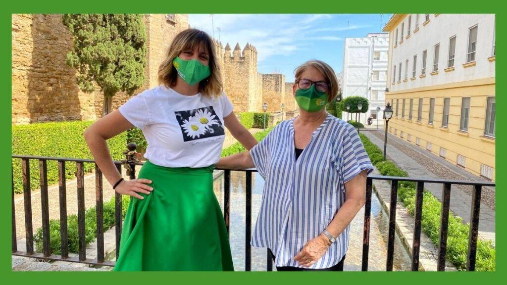 Imagen Verdes Equo Andalucía con Inés González e Inés Sabanés