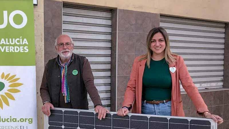 Imagen foto con los coportavoces de Verdes Equo Andalucía