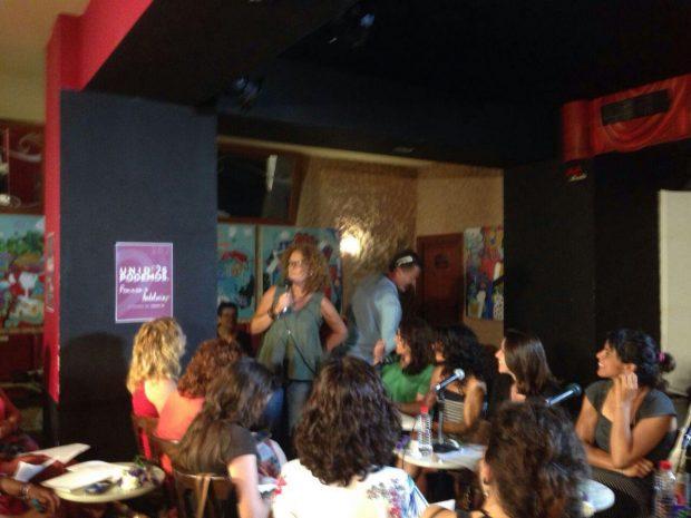 Mar Oliver, durante la presentación de la campaña feminista en Cádiz.