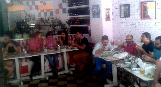 Almuerzo ecológico con empresas en Málaga.
