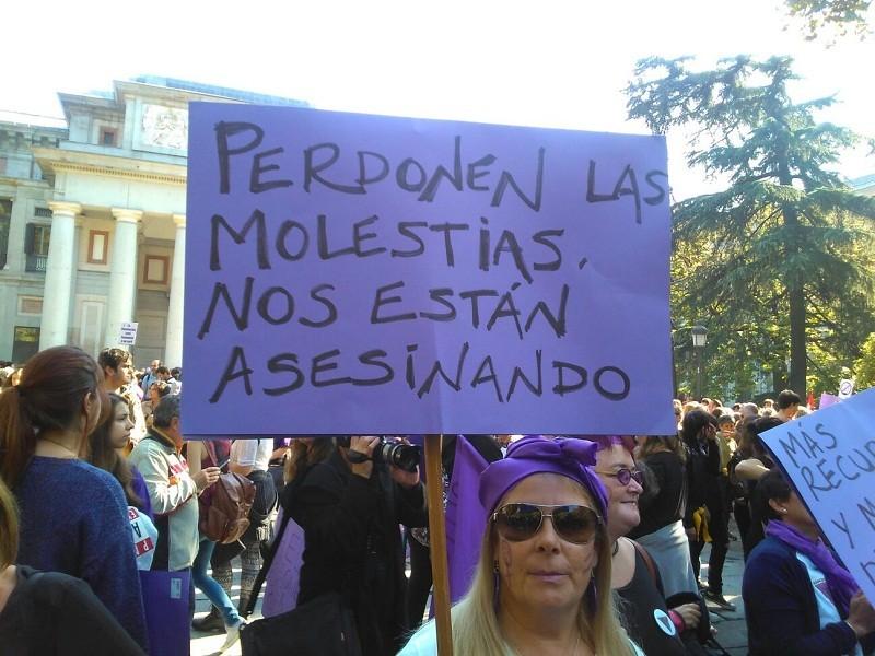 Pancarta 7n Manifestación Violencias Machistas