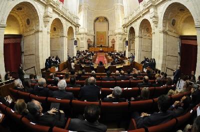 Imagen del pleno del Parlamento andaluz.